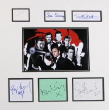 James Bond Autograph Signed Display
